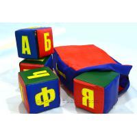 Мягкие кубики Буквы в чемодане