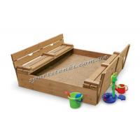 Детская песочница с крышкой и лавочками