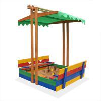 Детская песочница-трансформер с навесом цветная