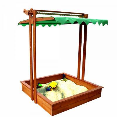 Детская песочница с крышкой-навесом