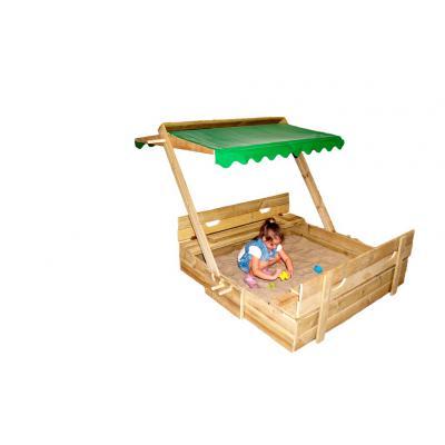 Детская песочница-трансформер с регулируемым навесом